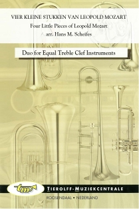 Vier Kleine Stukken van Leopold Mozart, 2 Blaasinstrumenten T.C.