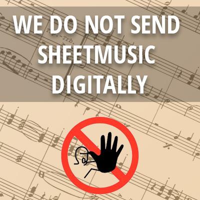 We do not send sheetmusic digitally