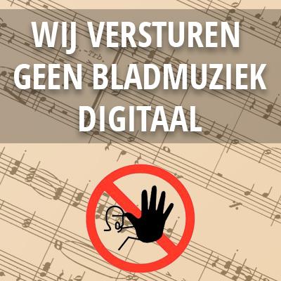 Wij versturen geen bladmuziek digitaal