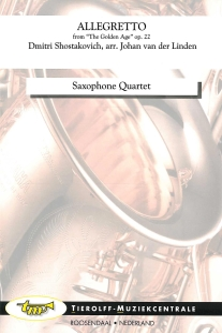 """Allegretto - aus """"The Golden Age"""", Saxophonquartett"""