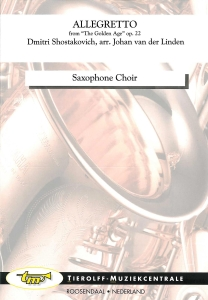 """Allegretto - from """"The Golden Age"""", Saxophone Choir"""