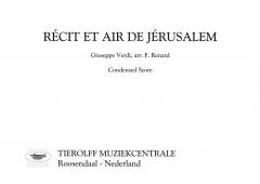 Récit Et Air de Jérusalem