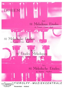 81 Melodious Etudes for Trumpet - Cornet - Flugelhorn Book 1