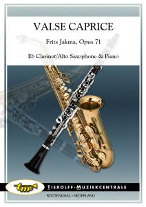 Valse Caprice, Eb Clarinette/Saxophone Alto & Piano