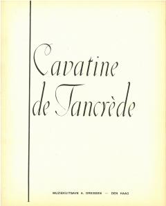 Cavatine de Tancrède - Opéra de Rossini