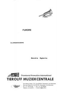 Furore, Score Bb Drum Corps