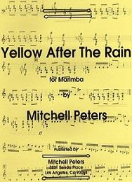 Yellow After The Rain for Marimba