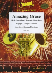 Amazing Grace, Solo Bagpipe-Trumpet-Clarinet & Concert Band