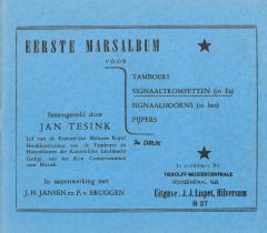 Eerste Marsalbum Voor Signaaltrompetten (in Es)