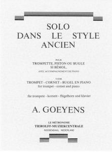 Solo Dans Le Style Ancien, Trumpet/Cornet/Flugelhorn & Piano