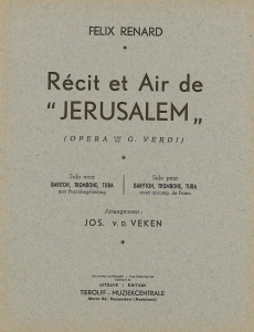 Récit et Air de Jerusalem, solo pour baryton/trombone/tuba avec accompaniment de piano