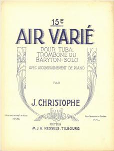 15e Air Varié, Trombone/Euphonium/Baritone & Piano