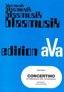 Concertino für Posaune (for bass trombone or tenor trombone) , Orchestre d'Harmonie