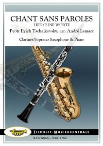 Chant Sans Paroles, Clarinette/Soprano Saxophone & Piano