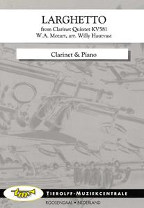 Larghetto - de Clarinet-Quintet K.V. 581, Clarinette & Piano