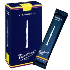 10 Vandoren anches de clarinette Sib Traditionnel nr.2½