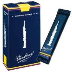 10 Vandoren soprano saxophone reeds Traditional nr.3½