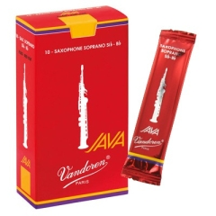 10 Vandoren soprano saxophone reeds Java rood nr.3½