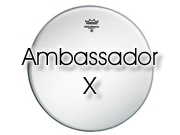 "Remo 13"" Ambassador X ruw wit tom/snarevel AX-0113-00"