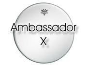"""Remo 14"""" Ambassador X ruw wit tom/snare/floor tom el AX-0114-00"""