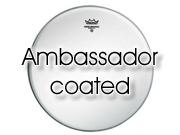 "Remo 15"" Ambassador ruw wit tom/ snare/ floortomvel BA-0115-00"