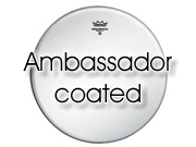 """Remo 18"""" Ambassador ruw wit floortomvel BA-0118-00"""
