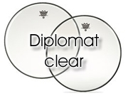 "Remo 15"" Diplomat transparant tom/ snare/ floortomvel BD-0315-00"