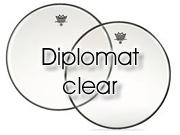 "Remo 16"" Diplomat transparant snare/ floortomvel BD-0316-00"