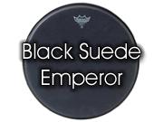 """Remo 14"""" Black Suede Emperor tom/ snare/ floortomvel BE-0814-ES"""