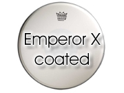 "Remo 14"" Emperor X ruw wit tom/ snare/ floortomvel BX-0114-10"