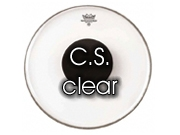 "Remo 15"" Controlled Sound transparant tom/snare/floortomvel met zwarte dot CS-03"