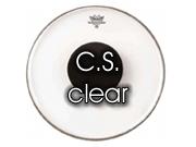 "Remo 16"" Controlled Sound transparant snare/floortomvel met zwarte dot CS-0316-1"
