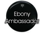 "Remo 22"" Ebony Ambassador bassdrumvel met gat ES-1022-CH"