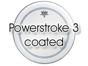 "Remo 16"" Powerstroke 3 ruw wit floortomvel met transparante dot P3-0116-C2"