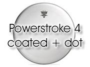 "Remo 22"" Powerstroke 4 ruw wit bassdrumvel - dubbellaags - transparante dot P4-1"