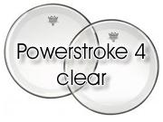 "Remo 20"" Powerstroke 4 transparant bassdrumvel - dubbellaags - transparante dot"